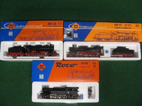 Three boxed HO scale ROCO International steam locomotives for German Railways to comprise: 4-6-0 and