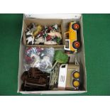 Quantity of larger scale plastic farm items by Schleich (Germany), Early Learning Centre etc to