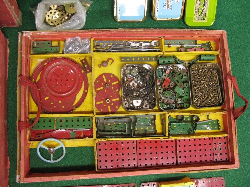 1950 boxed Meccano Set No. 9 with instructions for Outfit 9 and possibly a few extra parts (parts in - Image 3 of 5