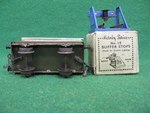 Mid 1930's Bassett-Lowke O gauge tinplate four wheel 12 ton covered goods van No. 13897 in NE - Image 5 of 5