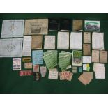 Quantity of ephemera to include: SR time tables for 1924 and 1931, Galloway-Hill Locomotive Diary