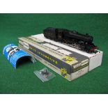 1980's Wrenn OO W2225 8F 2-8-0 tender locomotive in plain LMS black livery, boxed with