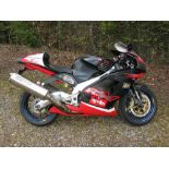 2001 Aprillia RSV Mille Type R V60 motorcycle. Registration Number: Y386 OPV. Chassis/Frame
