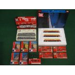 Jouef HO scale to comprise: two boxed trainsets (no track), three water columns, two yard cranes,