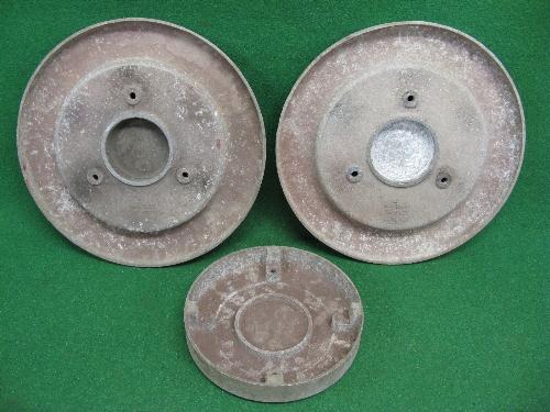 "Three cast aluminium Leyland commercial vehicle wheel embellishments: 1 x 10.5"" dia x 2"" deep with - Image 3 of 3"