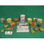 Quantity of motoring related product tins to include: Dunlop, Kleen-e-ze, John Bull, Osram,