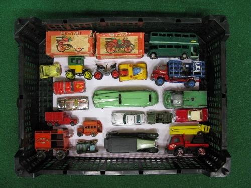 Mixed lot of approx nineteen toy vehicles by Rami, Minic, Vilmer (Denmark), Solido, Tonka,