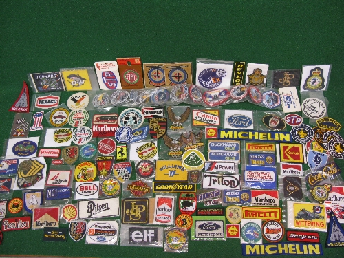 Approx 130 plus items of mainly motoring related embroidered patches Please note descriptions are