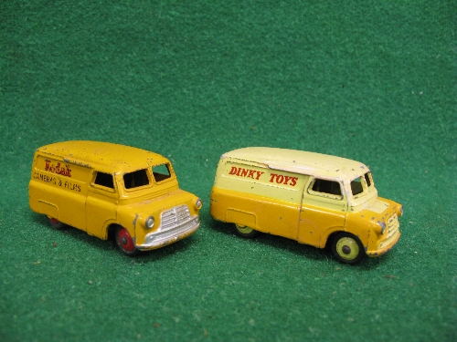 Two 1950's Dinky Bedford vans to comprise: 480 Kodak Cameras & Films and 482 Dinky Toys, unboxed and