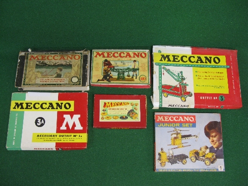 Six old Meccano sets to comprise: French OOO Outfits 1,3,3A, Gears Outfit B and an early 1900 set ( - Image 2 of 2