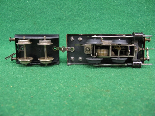 Early 1920's O gauge No. 1 clockwork 0-4-0 tender locomotive No. 2710 (on brass plate) in Great - Image 5 of 5