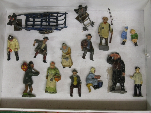 Quantity of early cast metal figures to include: milking maid, cartsman, porter, barrow man, tramp - Image 3 of 3