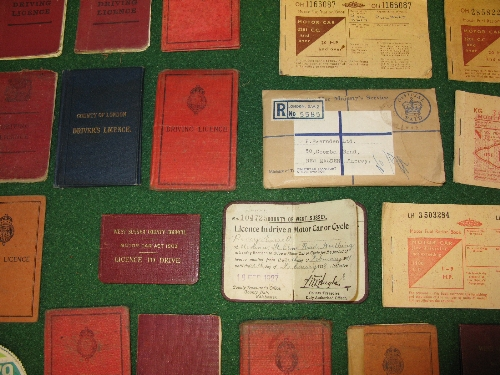 Quantity of driving licenses from 1911-1975, Ration books, bus and trolley bus route maps, old tax - Image 2 of 2