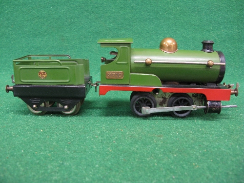 Early 1920's O gauge No. 1 clockwork 0-4-0 tender locomotive No. 2710 (on brass plate) in Great - Image 3 of 5