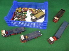 Assorted small traction engine and steam roller models together with 1:32 scale kit built or