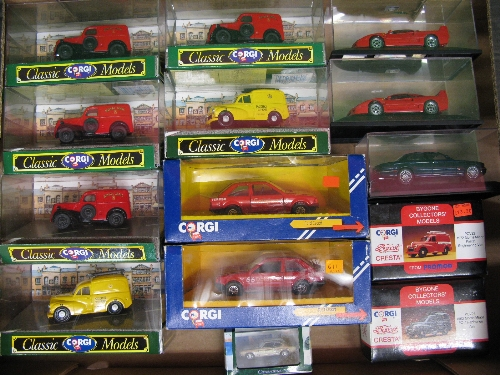 Box of fourteen items to comprise: Corgi Royal Mail/Post Office Telephones vehicles together with - Image 2 of 2