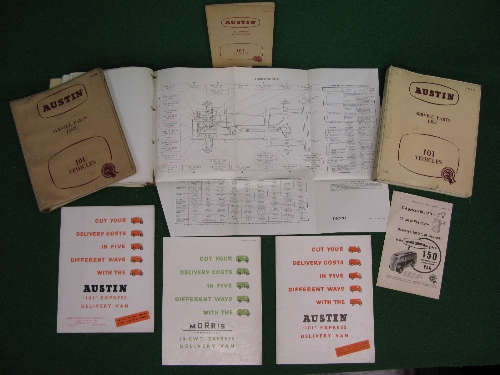 1950's Austin 101 and Morris Commercial 10cwt Express Delivery van items to comprise: workshop - Image 2 of 2