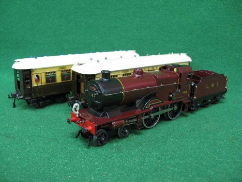 Late 1920's/early 1930's Hornby O gauge No. 2 Special Pullman Set containing: LMS clockwork compound - Image 4 of 4