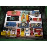 Quantity of approx eighteen model vehicles from Corgi, Husky, Matchbox to include: two Hillman