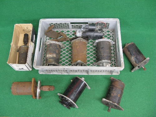 Six dynamo's and three starter motors (condition unknown) Please note descriptions are not condition