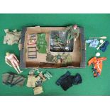 Quantity of 1960's/1970's Action Man to include: two different men, uniforms, weapons,