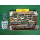 Loft find Triang TT gauge model railway items for spares or repair together with some white metal