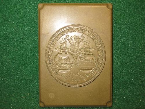Rhondda & Swansea Bay Railway Incorporated 1882 original small hanging three dimensional wall plaque - Image 3 of 3