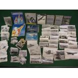 Quantity of WWII flying booklets, black and white service photographs and Farnborough Airshow