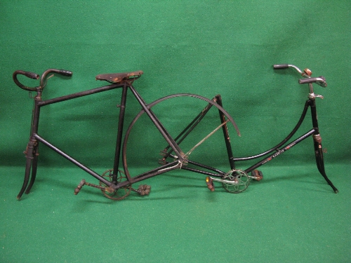 Two bike frames to comprise: a Gazelle Populair Ruwielfabriek-Dieren for ladies and an unmarked