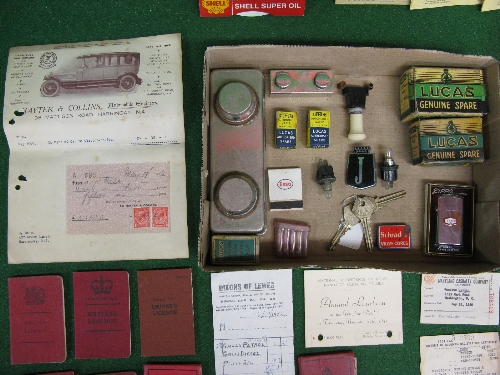 Quantity of motoring memorabilia, ration books, driving licences (one for Tanganika), AA and RAC - Image 2 of 2