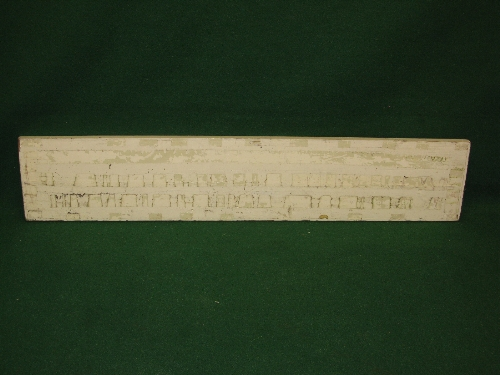 """Wooden sign for Ice Creams, dark red letters and lined border on a cream ground - 12.75"""" x 66.25"""" - Image 2 of 2"""