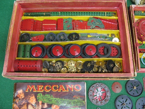 1950 boxed Meccano Set No. 9 with instructions for Outfit 9 and possibly a few extra parts (parts in - Image 4 of 5