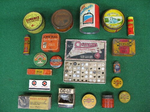 Quantity of motoring related product tins to include: Dunlop, Kleen-e-ze, John Bull, Osram, - Image 2 of 2