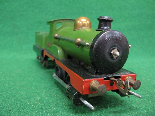 Early 1920's O gauge No. 1 clockwork 0-4-0 tender locomotive No. 2710 (on brass plate) in Great - Image 2 of 5