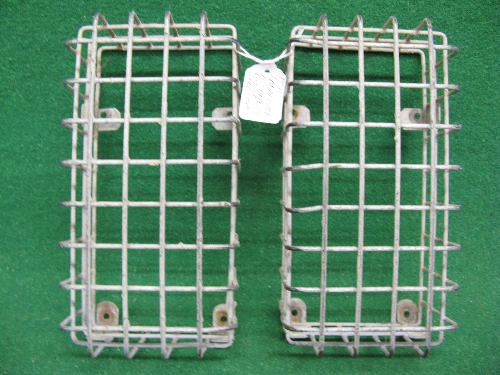 Pair of heavy gauge galvanised wire rear light lens protectors for Land Rover Hi Capacity Pick Up