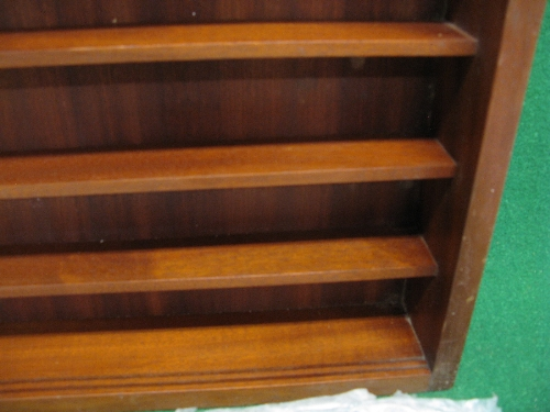 """Wooden six shelf display cabinet with sliding glass doors - 24"""" x 24"""", 3"""" spacing would suit model - Image 2 of 2"""