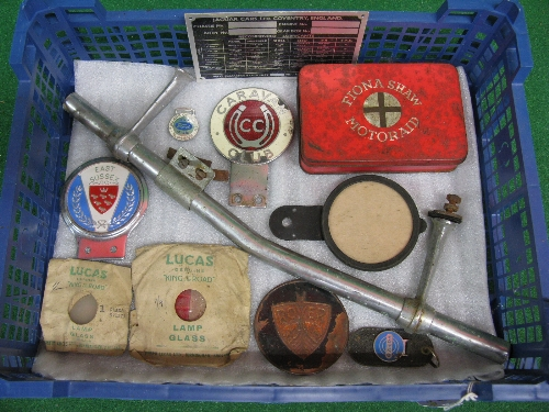 Badge bar with Caravan Club and East Sussex badges, two packaged Lucas King Of The Road lamp - Image 2 of 2