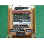 Nine pre-owned loose OO steam locomotives from Triang, Hornby, Airfix, Mainline and Bachmann