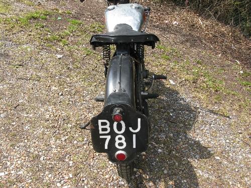 1935 Excelsior motorcycle. Registration No. BOJ 781. 149cc OHV four stroke with Burman hand change - Image 2 of 7