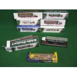 Seven different boxed 1:76 scale Atlas diecast Eddie Stobart rig models (six still sealed)