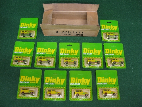 1980 trade box for eleven Airfix Dinky Renegrade Jeep diecast models in their No. 120 blister