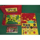 1951 Meccano Box Set No. 8 with instructions for Outfits 7/8 and two parts tins (clean and unrusty