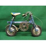 Rare late 1960's/early 1970's Japanese portable bike, badged for Mitutoyo the seat, handle bars