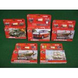 Five Hornby/Airfix unmade Starter Set Plastic Kits to comprise: Triumph Herald, HMS Victory,