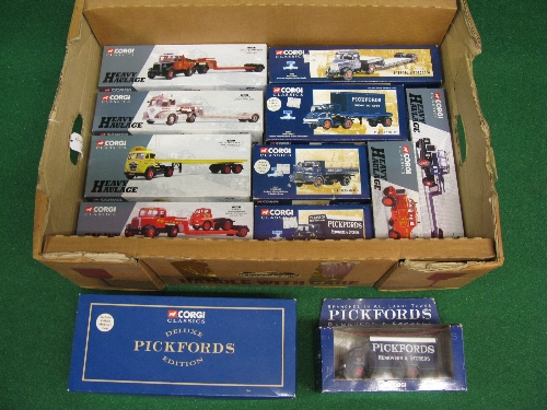 Twelve 1990's Corgi 1:50 scale diecast Pickfords and heavy haulage models to include: Scammels,