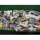 Quantity of approx seventy amateur black and white 1950's/1960's motor racing photographs of varying