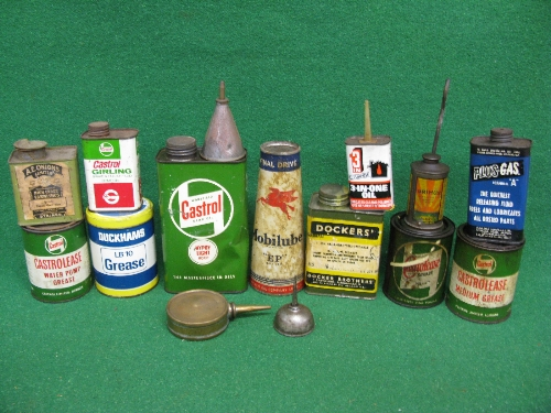 Quantity of oil and grease cans etc to include: unopened Mobilube EP, Castrolease etc Please note - Image 2 of 2