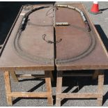 1960's built OO 3 Rail portable layout all hand built double track oval with six points on four