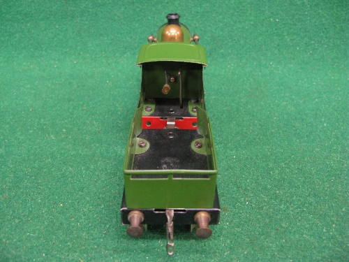 Early 1920's O gauge No. 1 clockwork 0-4-0 tender locomotive No. 2710 (on brass plate) in Great - Image 4 of 5