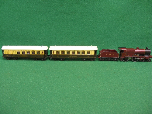 Late 1920's/early 1930's Hornby O gauge No. 2 Special Pullman Set containing: LMS clockwork compound - Image 3 of 4